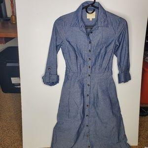Modcloth blue denim button up dress